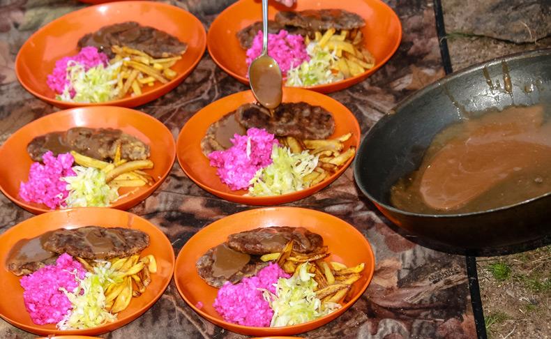 Dinner in Taiga-rein deer herders place