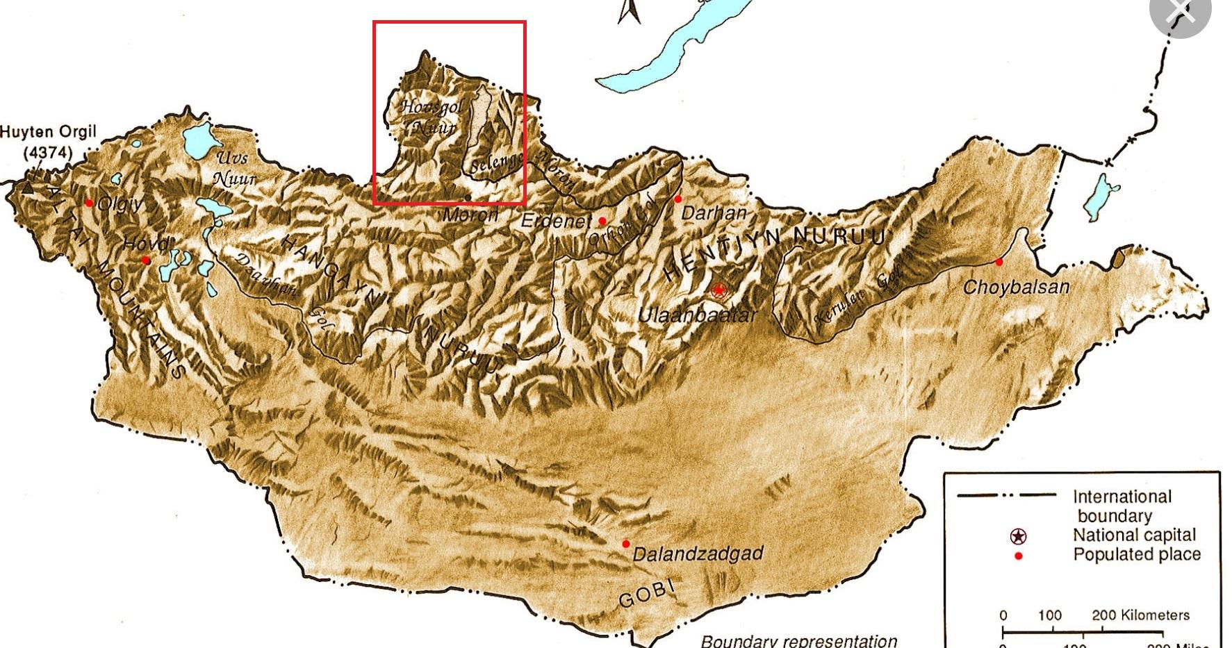 North Mongolia Map