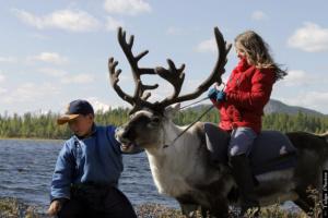 Child on Reindeer