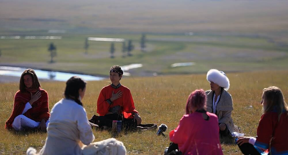 spiritual tour group travelers