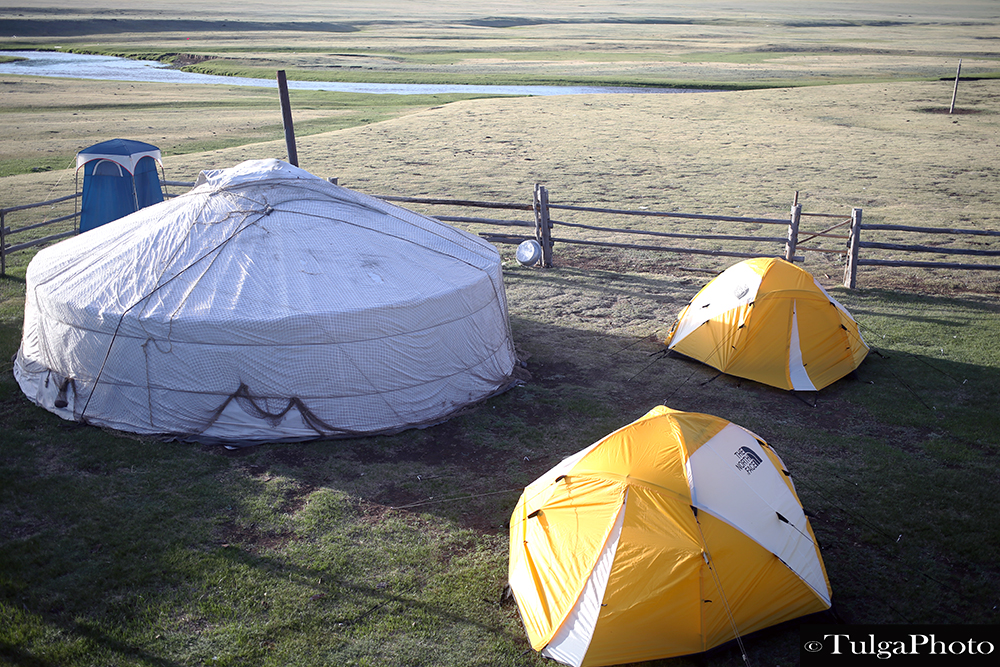 Ger with tents