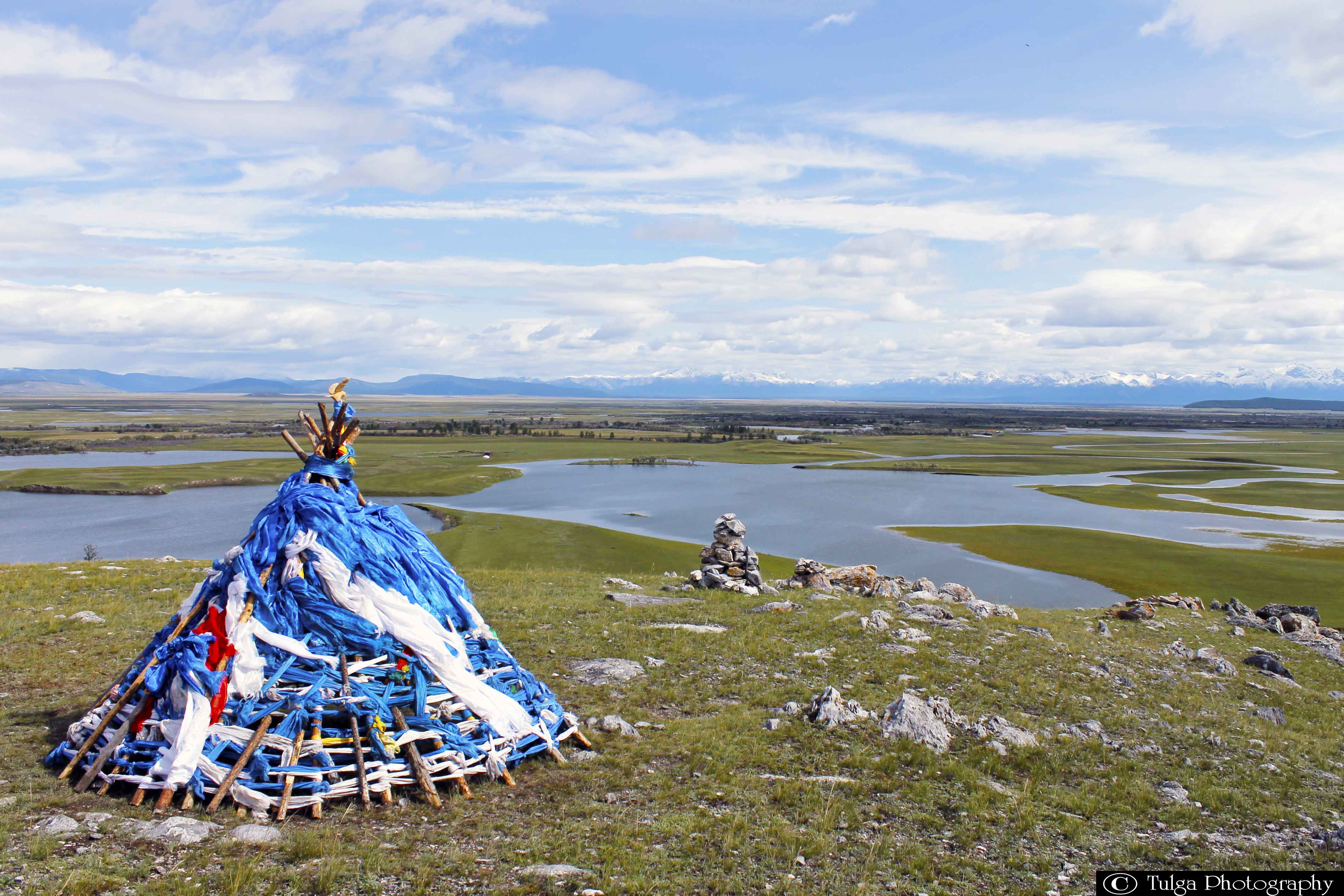 """""""Ovoo"""" sacred offering shamanic place"""