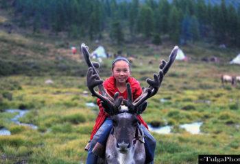 Tsaatan reindeer children