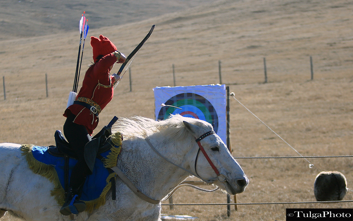 Horse Archery Competition by Horse Archery Association of Mongolia