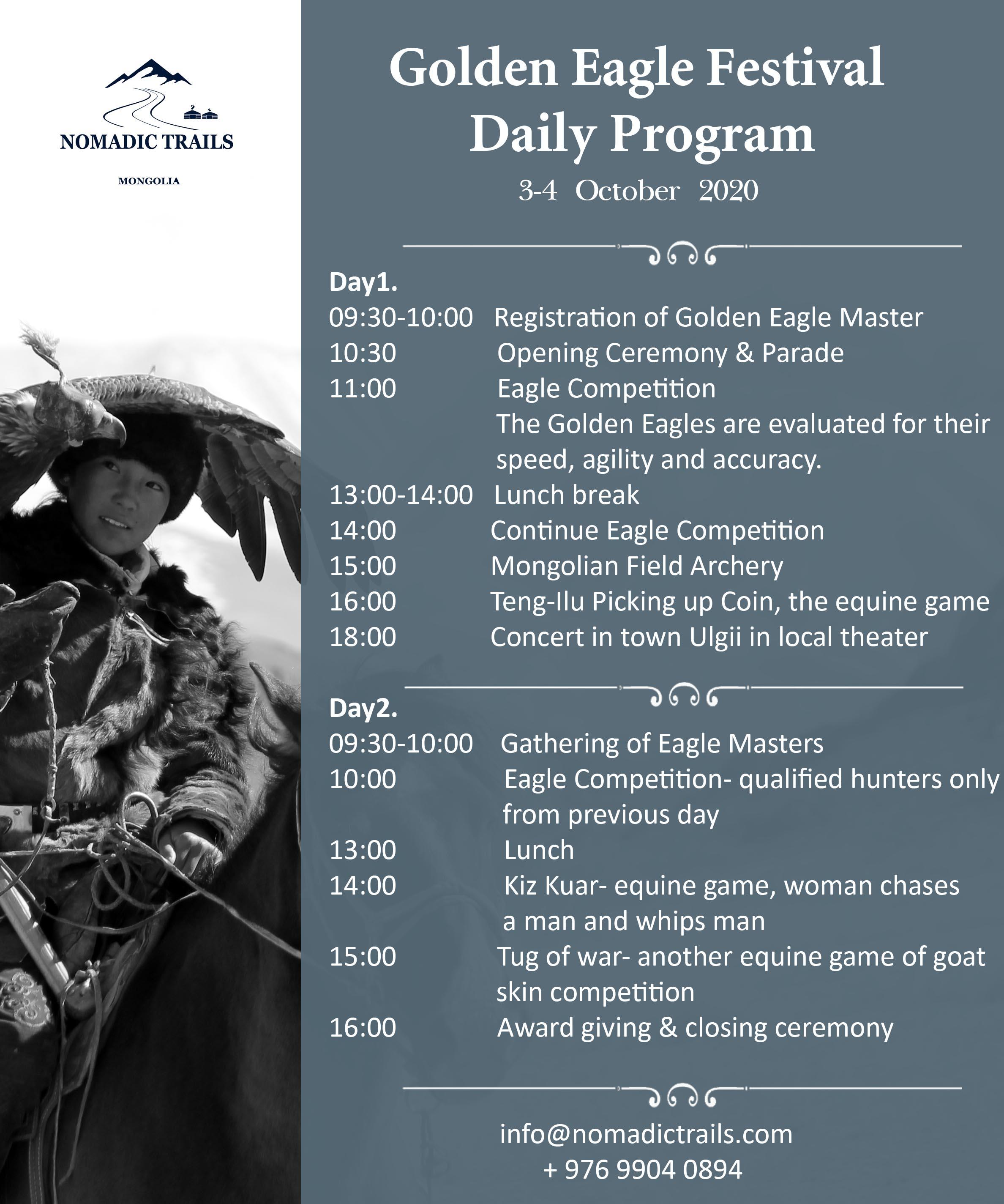 Golden Eagle Festival Daily Program