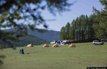 camp with tents