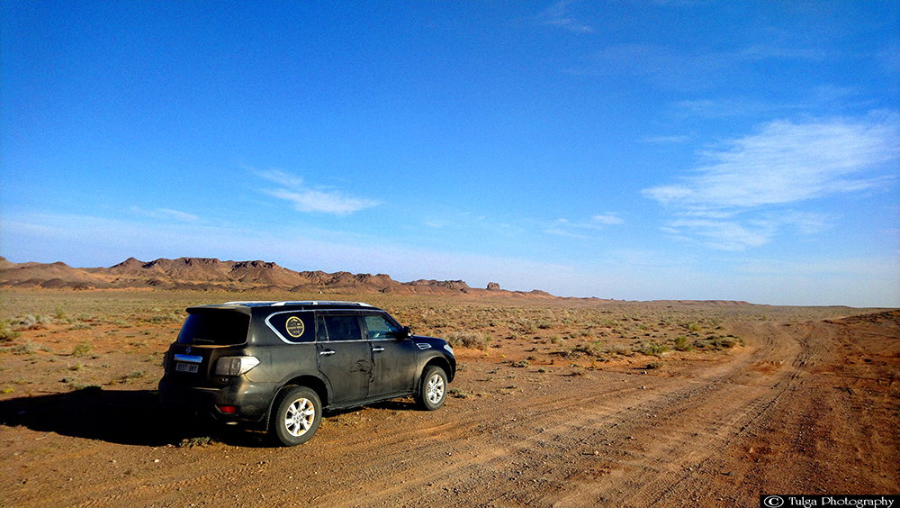 Vehicle in Gobi