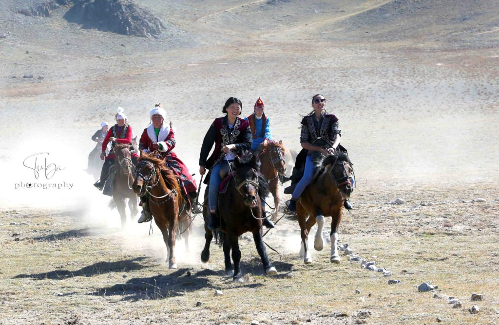 Local Golden Eagle Festival organized by Nomadic Trails- Special Woman Horse rider competition