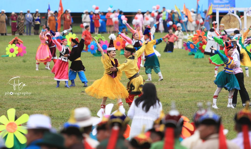 Dancers at Naadam Festival