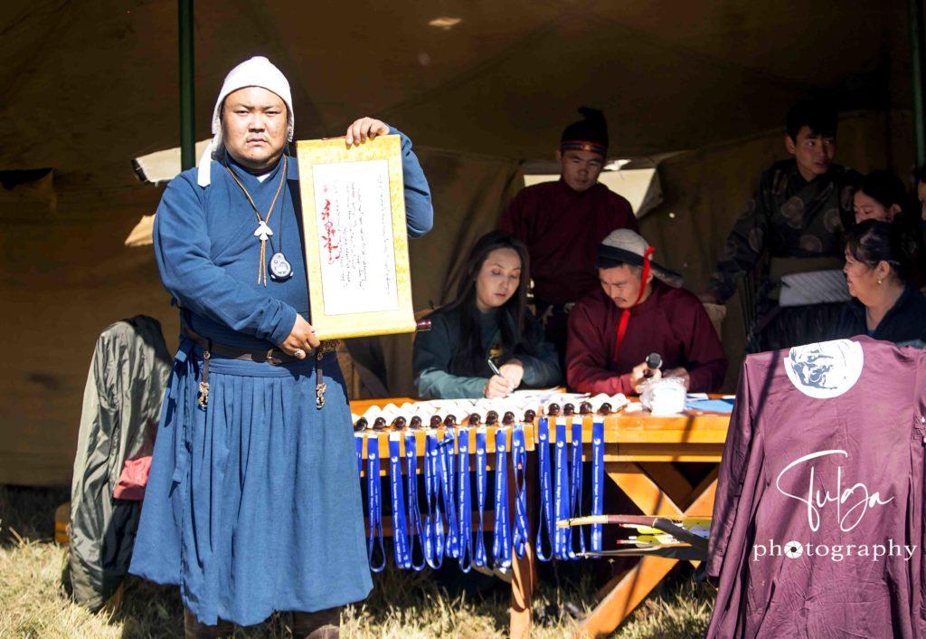 Horse Archery Award ceremony
