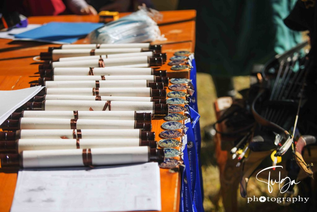 small Horse Archery competition in Mongolia Awards ceremony