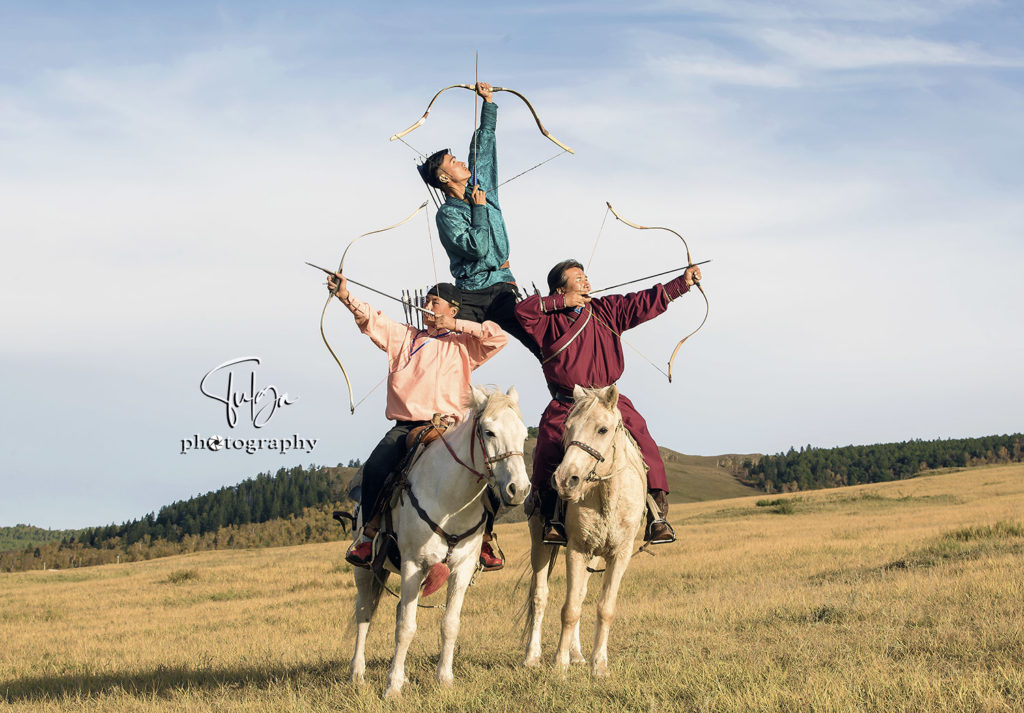 Professional mounted-horse archers