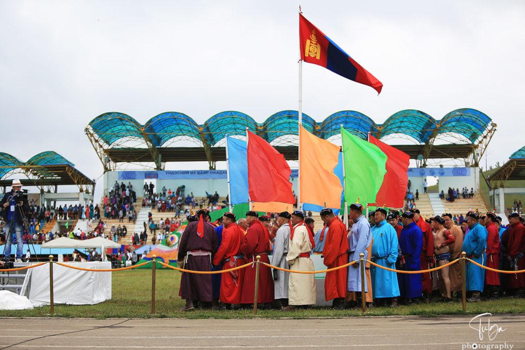 at flag Naadam