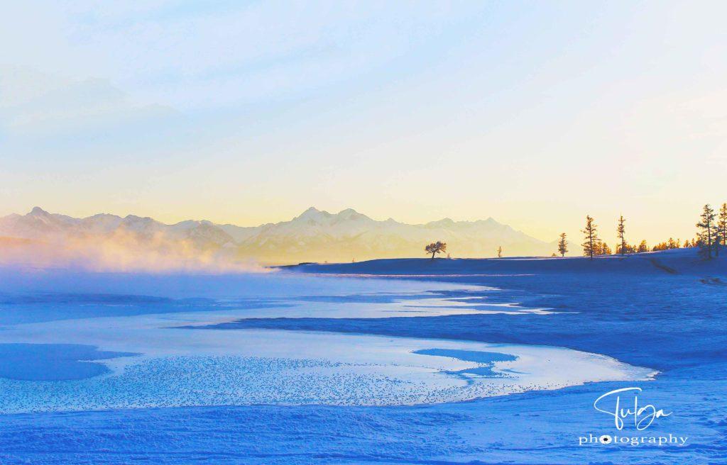 Frozen Khuvsgul Lake