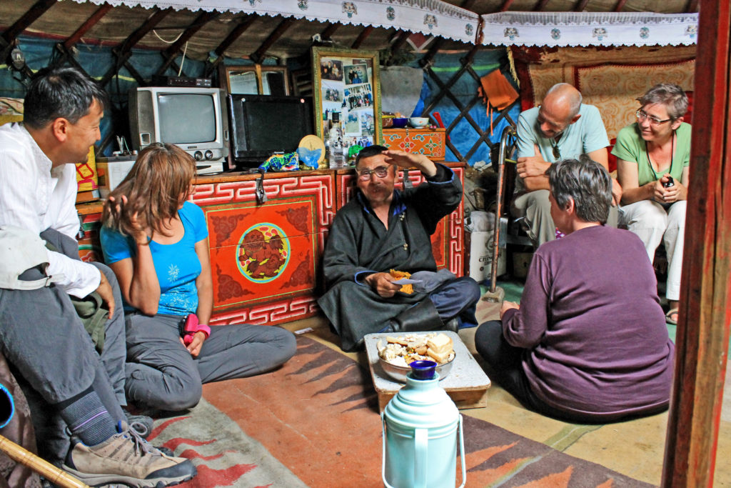 Hospitable local family visit with Nomadic Trails