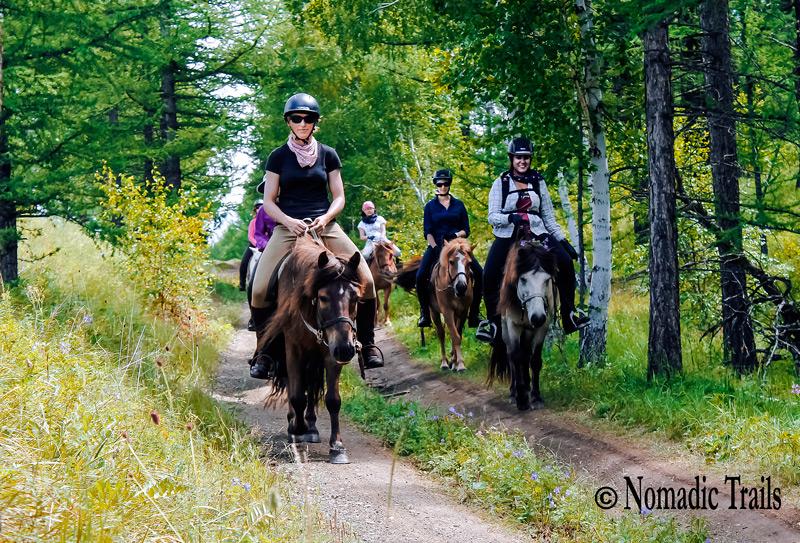 Rider group travelers