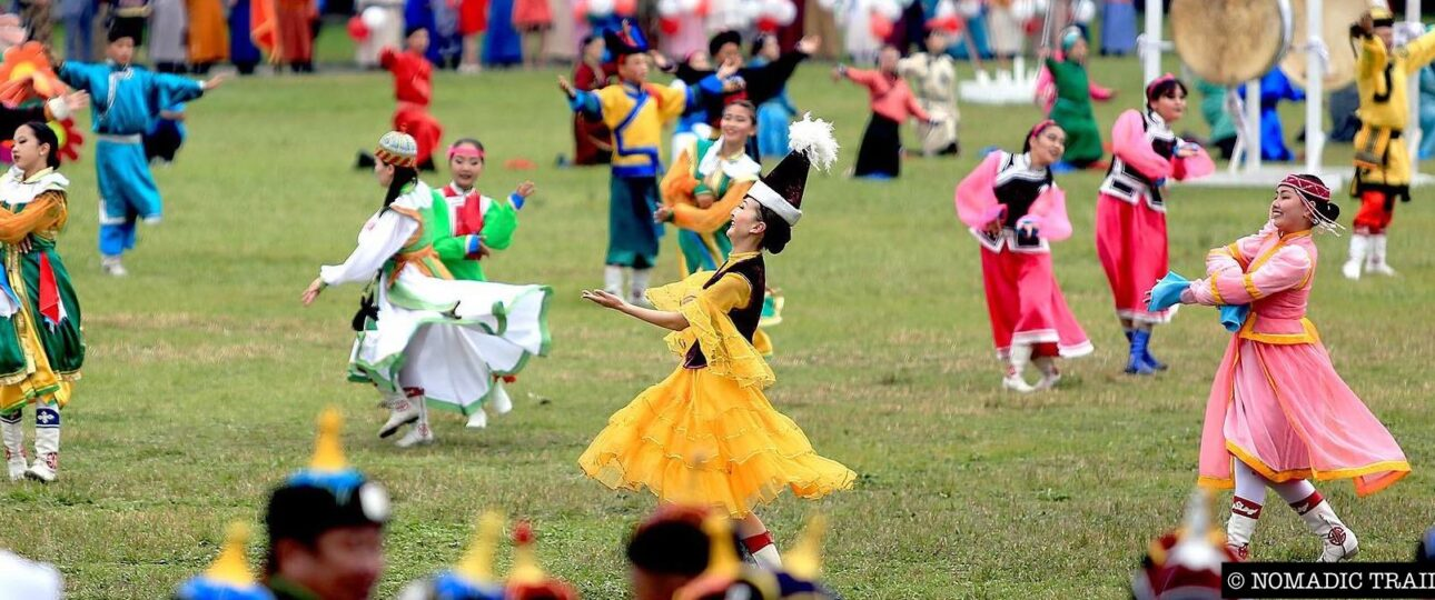 Dancers opening the Naadam Festival Mongolia
