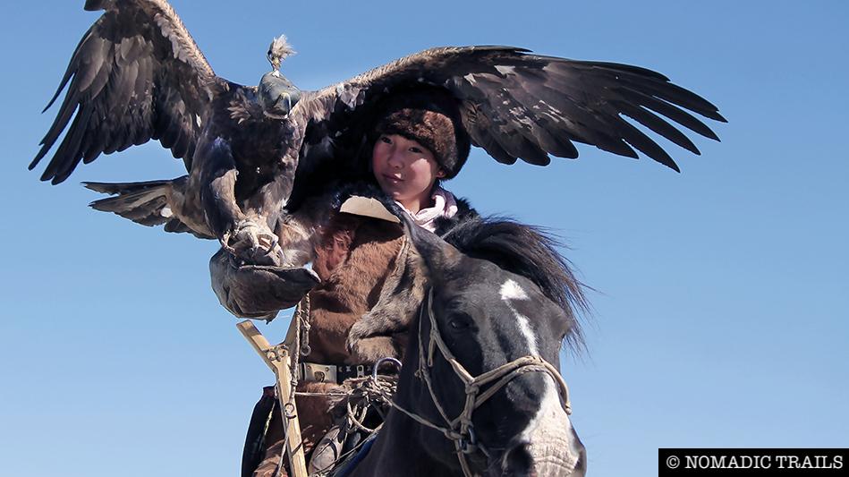 Young Female Eagle Huntress Zamanbul