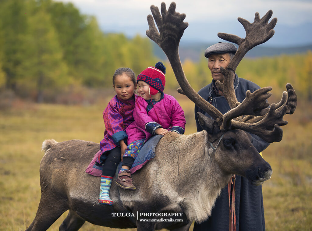 Reindeer Herders- Grandpa and grand kids