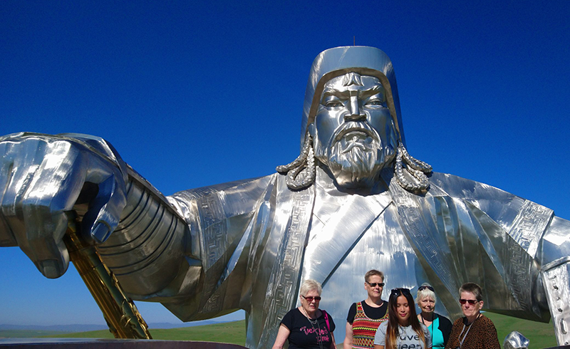 Chinggis Khaan statue complex from the horses head