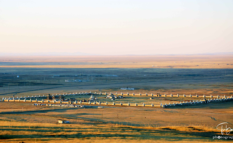 Kharkhorin Erdene Zuu monastery from afar