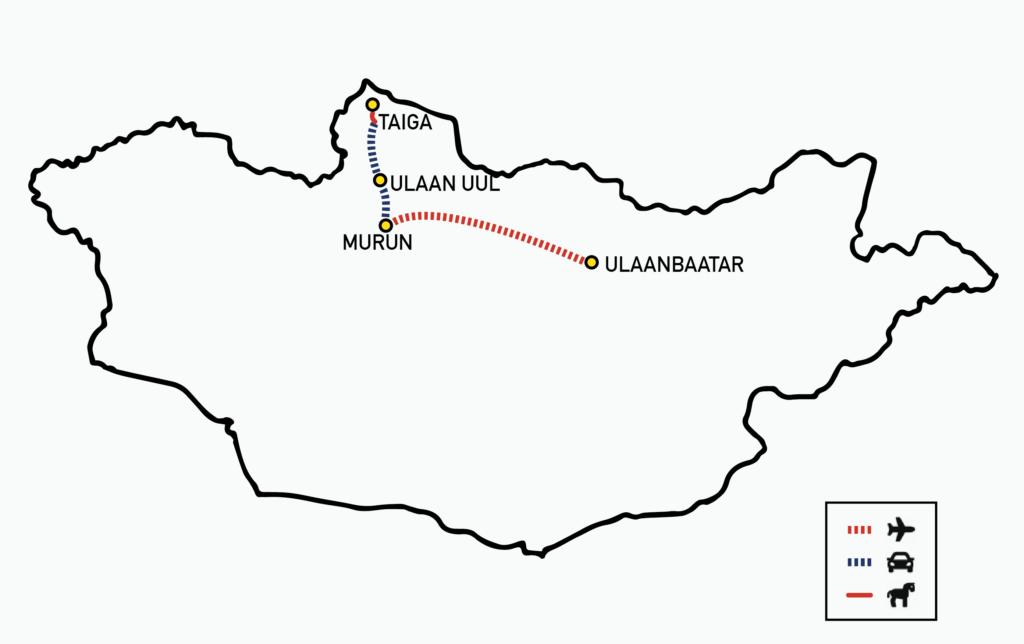 MAP TSAATAN REINDEER TOUR | How to visit the Mongolian Reindeer Herders - Nomadic Trails