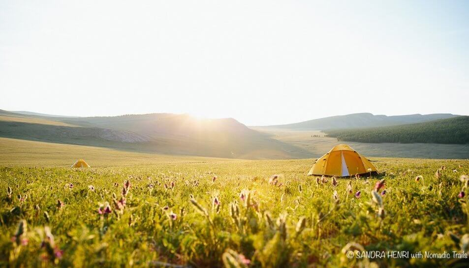 Sandra-Henri-with Nomadic Trails morning tented camping