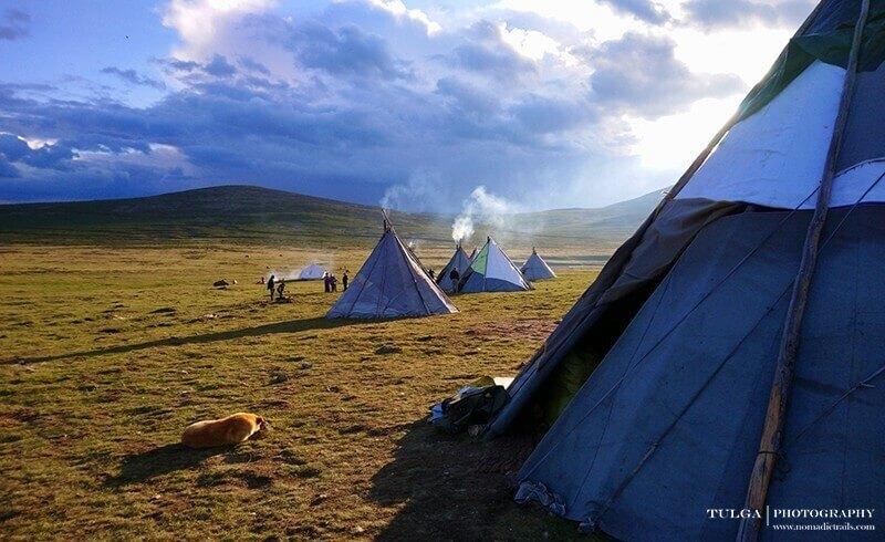 staying in tee-pee with reindeer herders mongolia