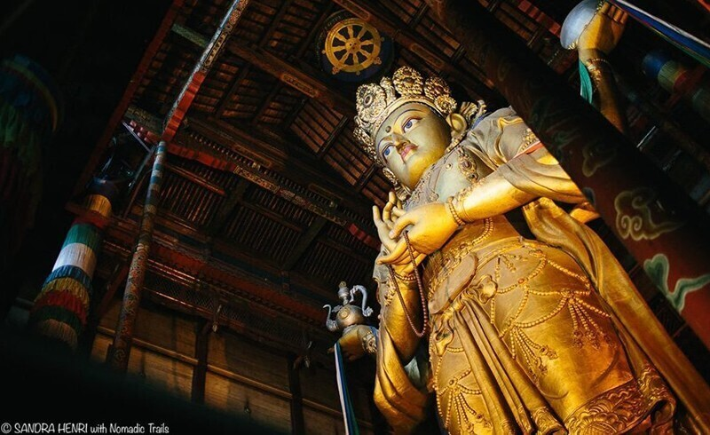 Gandan Main Monastery Janraisig deity by Sandra Henri