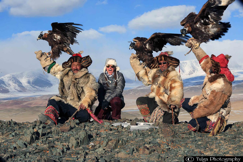Nomadic Trails traveler with eagle hunters