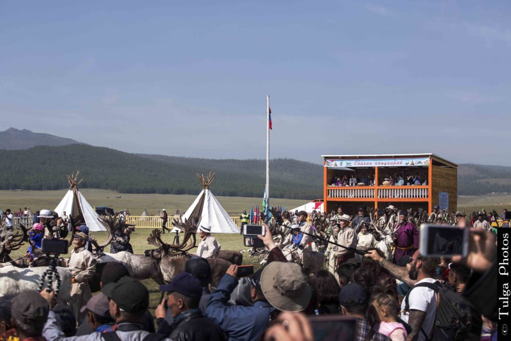 Reindeer Festival Site with local crowd | Reindeer Festival Mongolia 2019 - Nomadic Trails