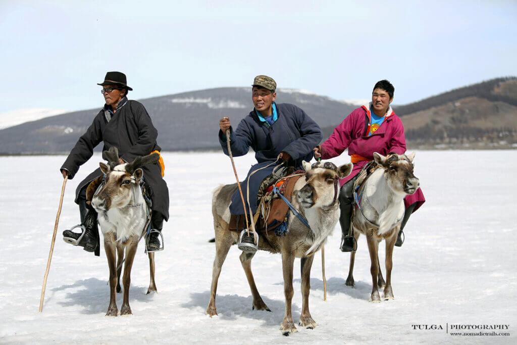 Before covid-19 restriction Mongolian Reindeer Herders