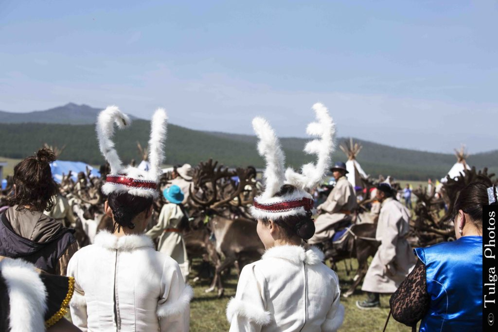 Reindeer girls in their costumes for the Festival | Reindeer Festival Mongolia 2019 - Nomadic Trails