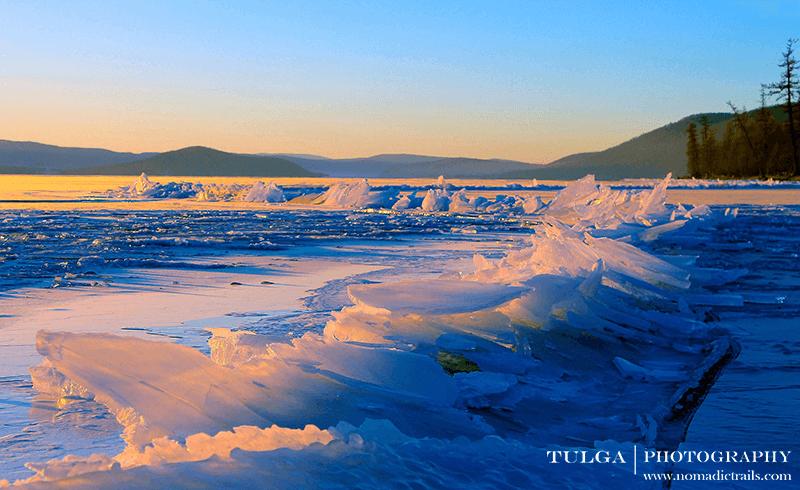 frozen ice shards of khuvsgul lake mongolia | Top 5 Photography Tours Mongolia - Nomadic Trails