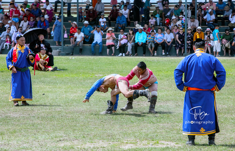 wrestling at naadam festival mongolia