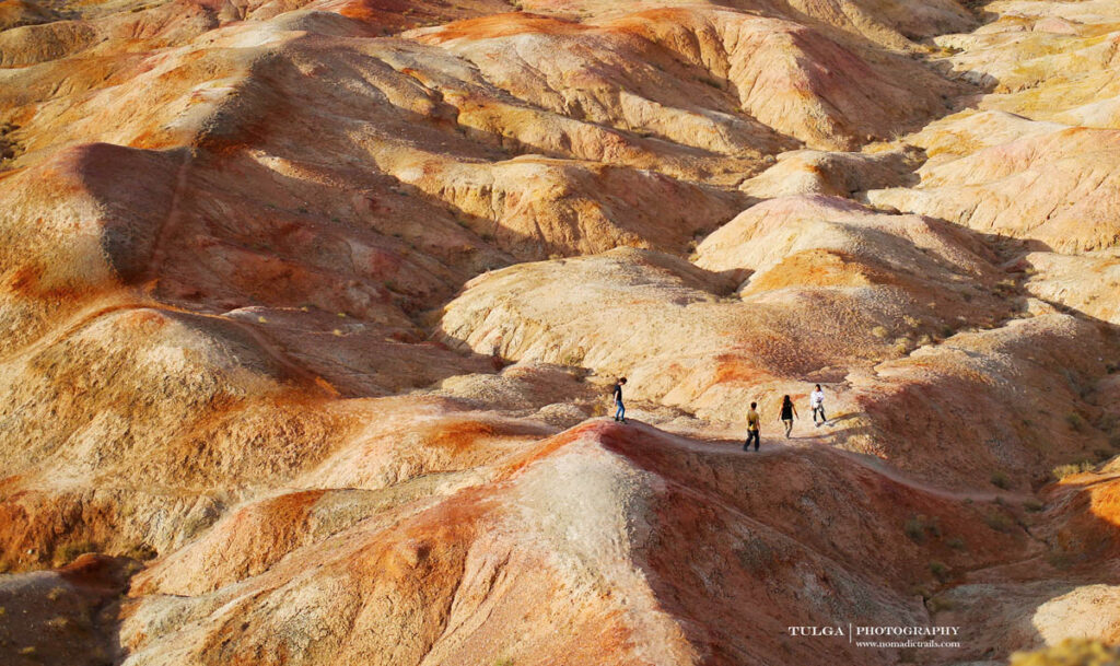 Tsagaan Suvarga area hills with colorful minerals