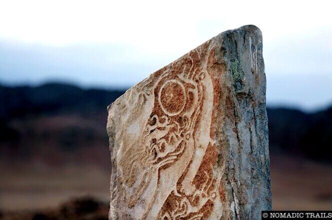 Deer-stone near Murun town