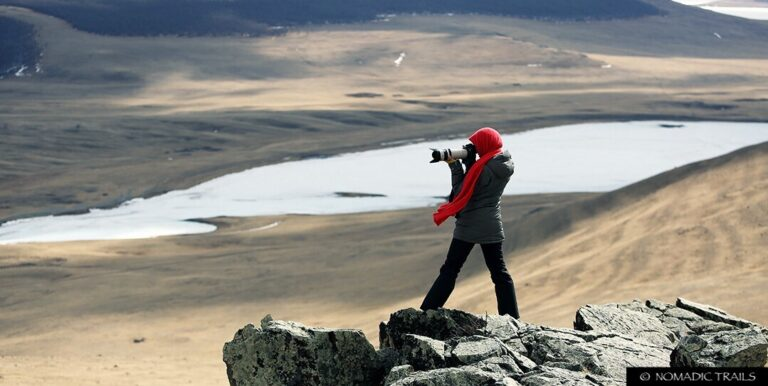 Photography tour to Dukha Reindeer Herders Tour traveller - photographer