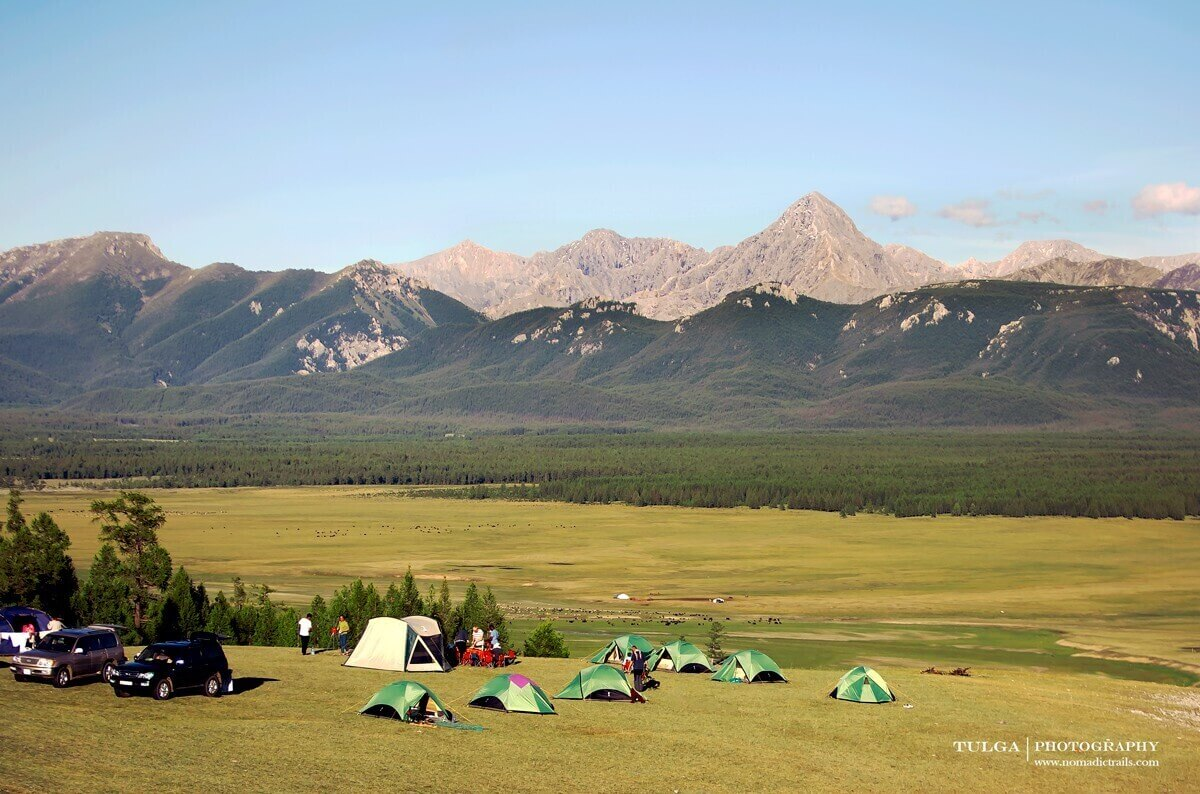 Tented Camping with stunning mountainous scenery