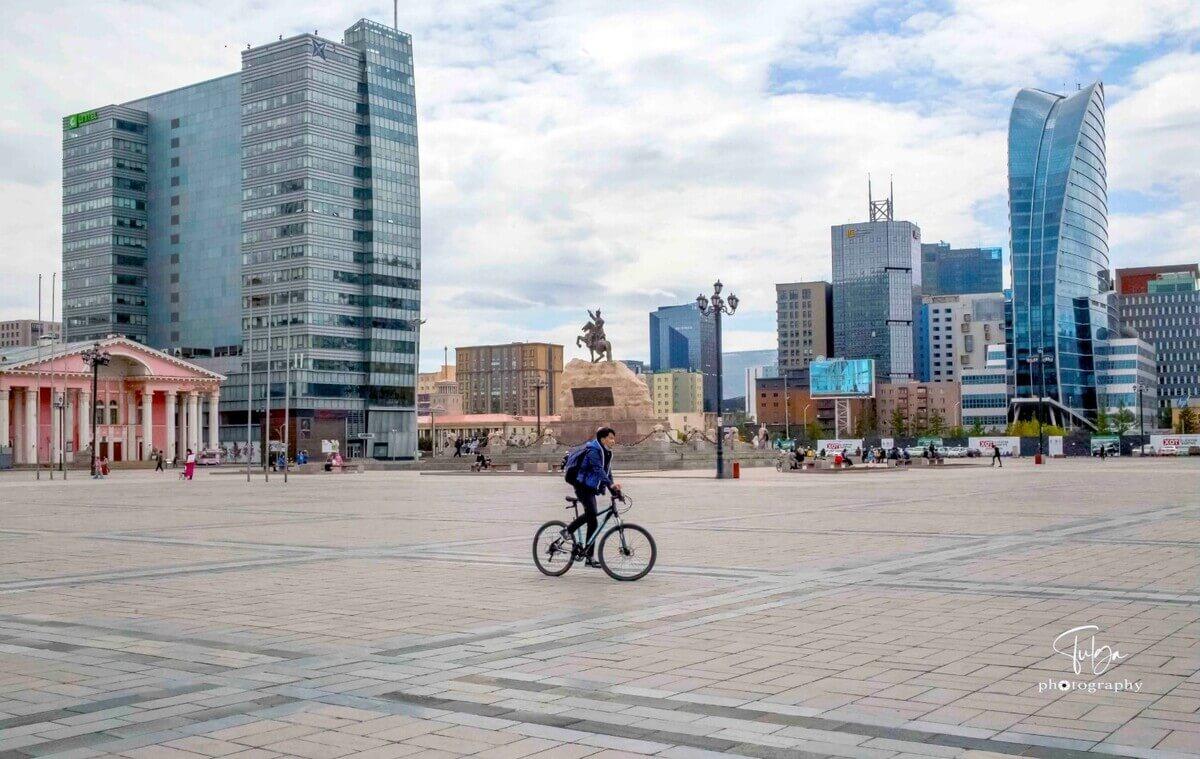 Ulaanbaatar Sukhbaatar square view