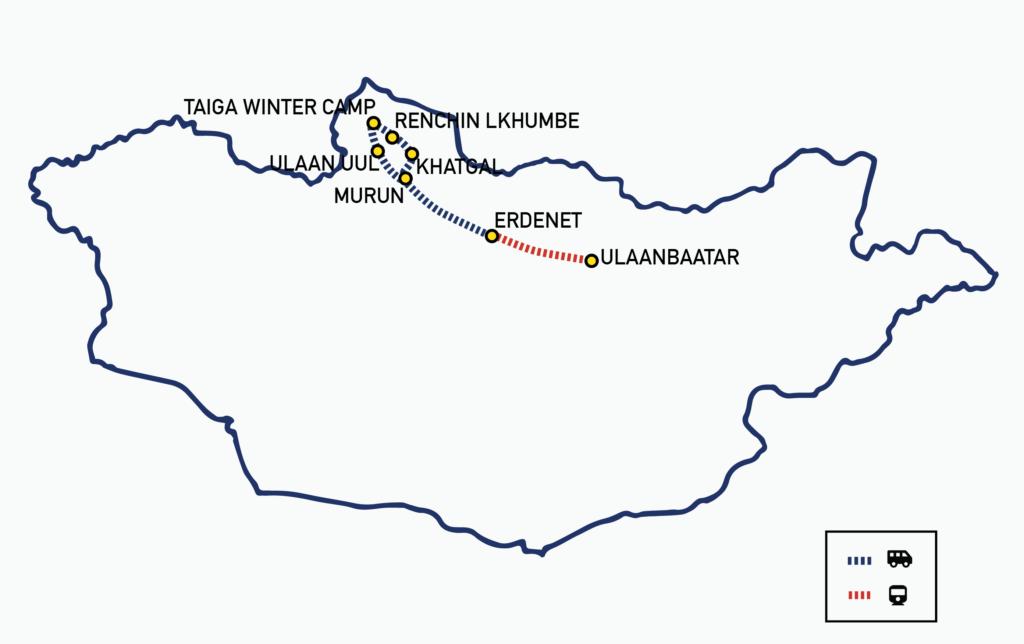 Winter Reindeer Tour 2021 MAP